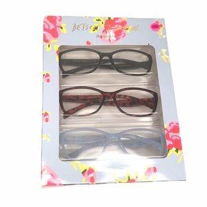 Betsey Johnson 3 Pack Reading Glasses +2.00